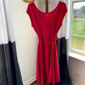 Berry Red Knit Dress